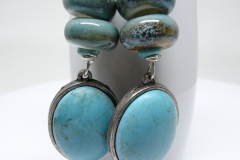 Faux Turquoise and Ceramic