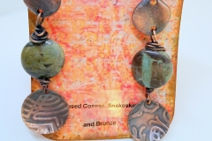 Embossed Copper, Bronze and Snakeskin Jasper