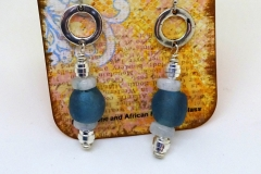 Recycled Glass, Moonstone, and Pewter