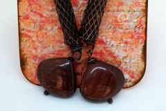 Copper Mesh and Red Tiger Eye