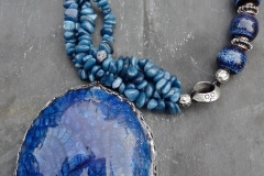 Blue Fossil Necklace