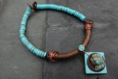 Faux Turquoise and Street Metal